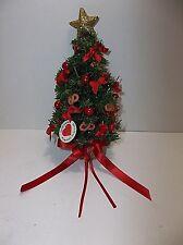 Vintage Hand Made Christmas Tree Ornament Denmark Hanne Kvaerkeby Red Gold Mib
