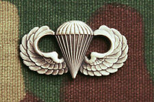 US ARMY BASIC AIRBORNE JUMP WINGS BADGE; REGULATION FULL SIZE