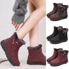 Women Snow Ankle Boots Warm Waterproof Outdoor Ski Shoes Winter Fur Lined Shoes