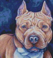Punto De Cruz Gráfico pit bull dog 4
