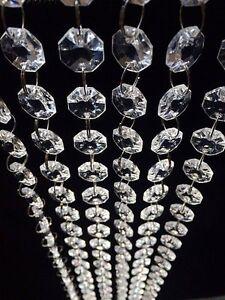 30FT Acrylic Crystal Bead Chandelier Wedding Centerpiece Garland Chain Prisms