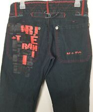 Vtg Marithe Francois Girbaud Jeans Womens 28 Straight Distressed Spellout 90's