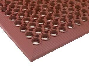 """Red Indoor Commercial Industrial Heavy-Duty Anti-Fatigue Floor Mat 36"""" x 60"""""""
