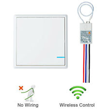 Wireless Smart Lamp Light Wall Switch Home 1-Way ON/OFF Remote Control Kit
