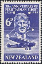 New Zealand 1958 Pilot/Tasman Flight/Plane/Aircraft/Aviation/History 1v (n24493)