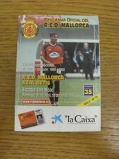 30/04/2000 Real Club Deportivo Mallorca v Real Betis  (Creased). Thank you for v