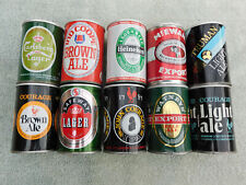 Lot of 10 Pull Tab Beer Cans - Small 9 2/3 oz size from the United Kingdom