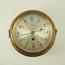 Vintage Salem Switzerland Brass Maritime Ships Clock Works /g
