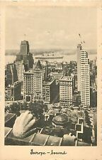 """Europe Bound"", Ocean Liner Framed by New York City Skyline, Arthur Jaffe # 36"