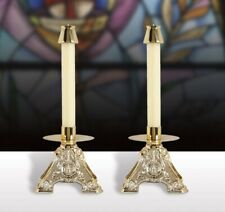 """IHS Resin Candlestick Altar 6-1/2"""" H Set of 2  B3410"""