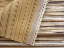 Brown Striped Upholstery Fabric Nap Chair Seat Cushions Accessories 3/4 Yd x 56