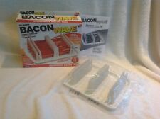 Emson The Original Bacon Wave Microwave Tray w Box As Seen on TV Less Fat Grease