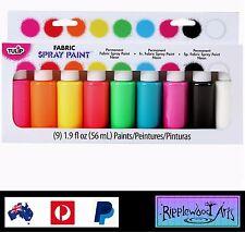 Tulip Fabric Spray Paint - 9 Bottle Kit - NEON