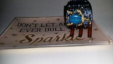Crystals (200+) & TURQUOISE TURTLE Jewelry HAIR CLAW CLIP Blues!!