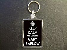 KEEP CALM AND LISTEN TO GARY BARLOW KEYRING BAG TAG BIRTHDAY GIFT