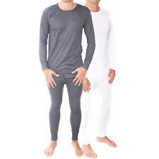 Kids Thermal Winter Warm Underwear Set Long John Bottom and Long Sleeve Top