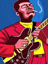 B B KING PRINT poster king of the blues gold live royal albert hall cd gibson