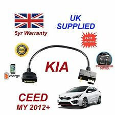 For KIA Ceed iPhone 3 3gs 4 4S iPod USB & 3.5mm Aux Audio Cable 2012+