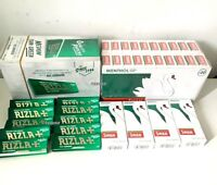 600 RIZLA GREEN ROLLING PAPERS & 600 SWAN MENTHOL EXTRA SLIM FILTER TIPS SMOKING