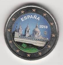 -- 2013A - 2 EURO COULEUR -- ESPAGNE - L'ESCURIAL