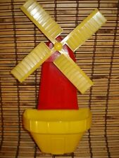 1950s Hard Plastic Windmill Planter