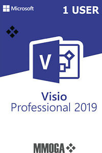 MS Microsoft Visio 2019 Professional 1 User (1 Nutzer) - Digital Code - Global