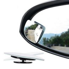 2Pcs Car Van Adjustable Blind Spot Side Rear 360° View Mirror Convex Wide Angle