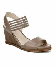 LifeStride Women's Blaze Wedge Sandals Mushroom Tan Beige Size 10 NWOB A1405