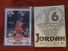 New listing Michael Jordan 1999 Upper Deck 22kt Gold Photo Retirement Card + 1990 Fleer Card