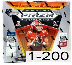 2021 Panini Prizm Draft Picks Football Base #1-200 You Pick Complete Your Set!