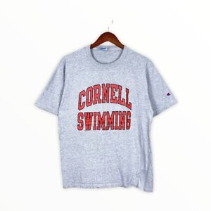 Vintage 90s Champion Cornell Swimming Single Stitch Made In USA Tee Ivy League L