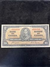 Bank of Canada Canadian Currency - 1937 Two Deux Dollars King George VI