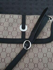 Oroton Signature Canvas Bag Leather Trim Crossbody Brown
