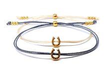Minimalistisches Armband mit Hufeisen gold - FARBWAHL Glücksbringer Reiten