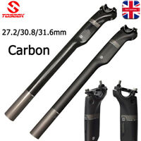 TOSEEK 3K Carbon Fiber Seatpost Mountain Bike Seat Post 27.2/30.8/31.6*350/400mm
