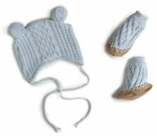 Egg New York | Baby newborn cable knit beanie booties set 00 3-6mth