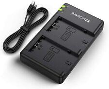 RAVPower Battery Dual USB Charger for Sony NP-FZ100 Alpha 9, A9, Alpha 9R, A9R