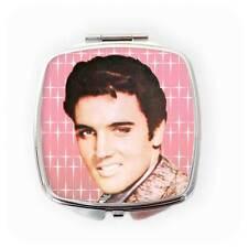 Elvis Compact Mirror, Elvis Presley Gift, Kitsch Gift, Pink Compact Mirror, 50s