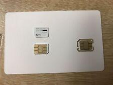 Sprint Boost Virgin Mobile Nano Sim Card Part SIMGLW436C 4G LTE