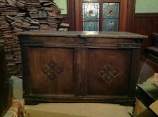 ExceptionalCarved Ships Chest Coffer Mule Early 18th centuryGeorgianOak Cabinet1