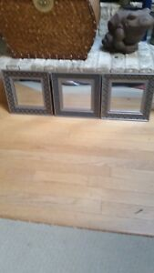 Small Wall Mirrors - Set of 3 - Decorative & Unique - MINT!!!