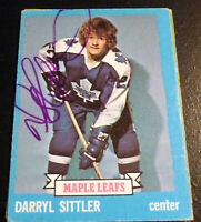 Darryl Sittler SIGNED 1973-74 Topps #132 Toronto Maple Leafs HoF AUTOGRAPH