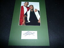 ALFONSO RIBEIRO signed  Autogramm In Person A4 Passepartout PRINZ VON BEL-AIR