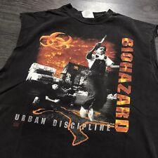Vintage 1993 Biohazard Urban Chaos Discipline T-ShirtSZ XL Hardcore Tour Rock