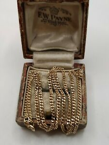 Vintage 9ct Yellow Gold Curb Chain Necklace
