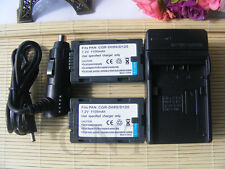 2X BATTERY+charger FOR PANASONIC CGR-D08R R CGR-D16S NV-DS60 NV-DS27 NV-DS28