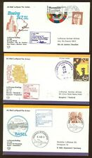 FFC N15 LUFTHANSA Bangkok Thailand Manila Philippines Basel Switzerland (3 pcs)