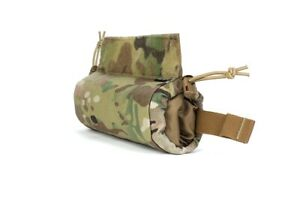 Drop Panel Roll Pouch Side Pull Storage Bag for Tactical Vest Chest Rig Belt
