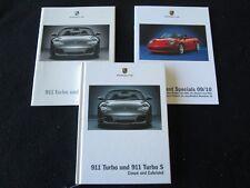 2005 Porsche 911 Turbo S German Brochure 996 Turbo Hardcover Sales Catalog Set