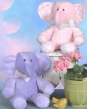 BABY ELEPHANT STUFFED ANIMAL SEWING PATTERN, From Cotton Ginnys Patterns NEW
